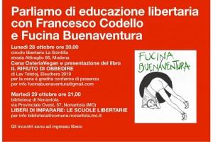 Parliamo di educazione libertaria – 28/29 ottobre – Modena