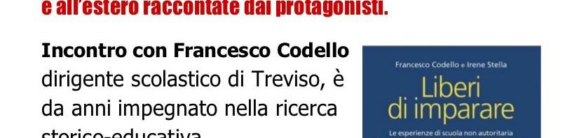 Presentazione a Castelfranco Veneto (TV) del libro LIBERI DI IMPARARE di Irene Stella e Francesco Codello