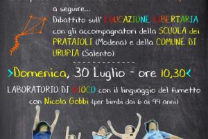 Educazione Libertaria alla Festa Alta Felicità – Val Susa 29 e 30 Luglio 2017