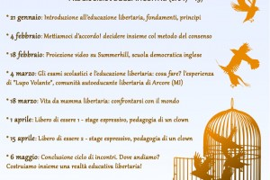 Pillole di… educazione libertaria dal 21/01 al 06/05/2019 – Ateneo degli Imperfetti -Marghera